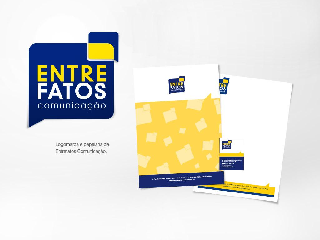 Logomarca e Papelaria da Entrefatos Comunicação