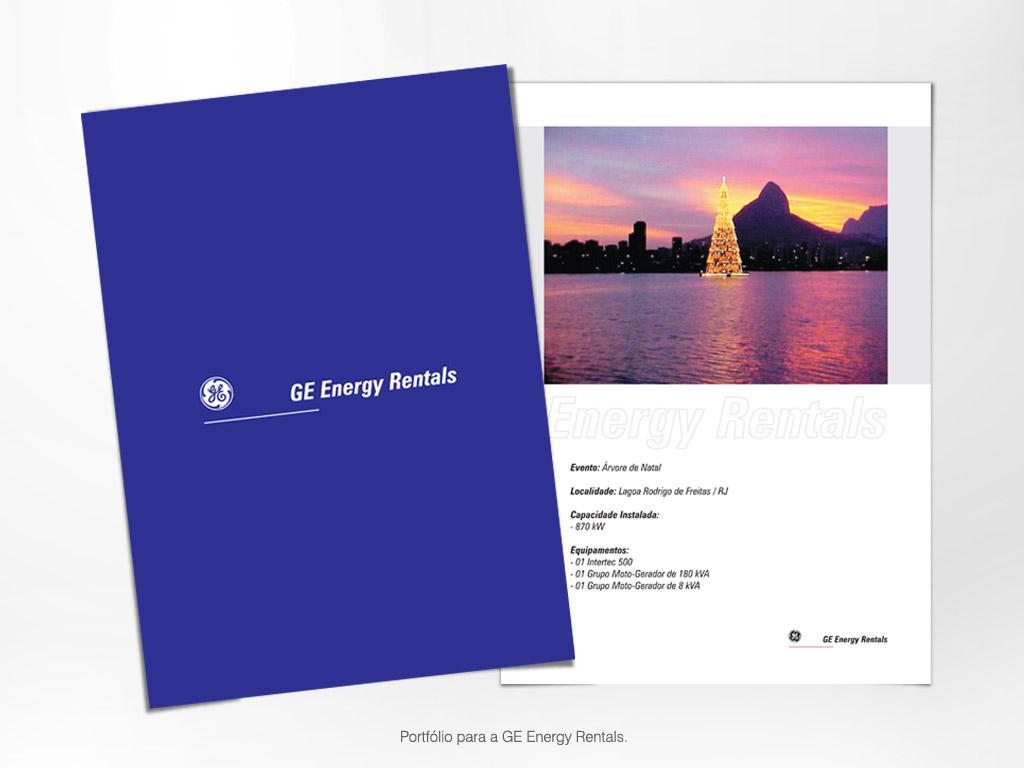 Portfólio para a GE Energy Rentals