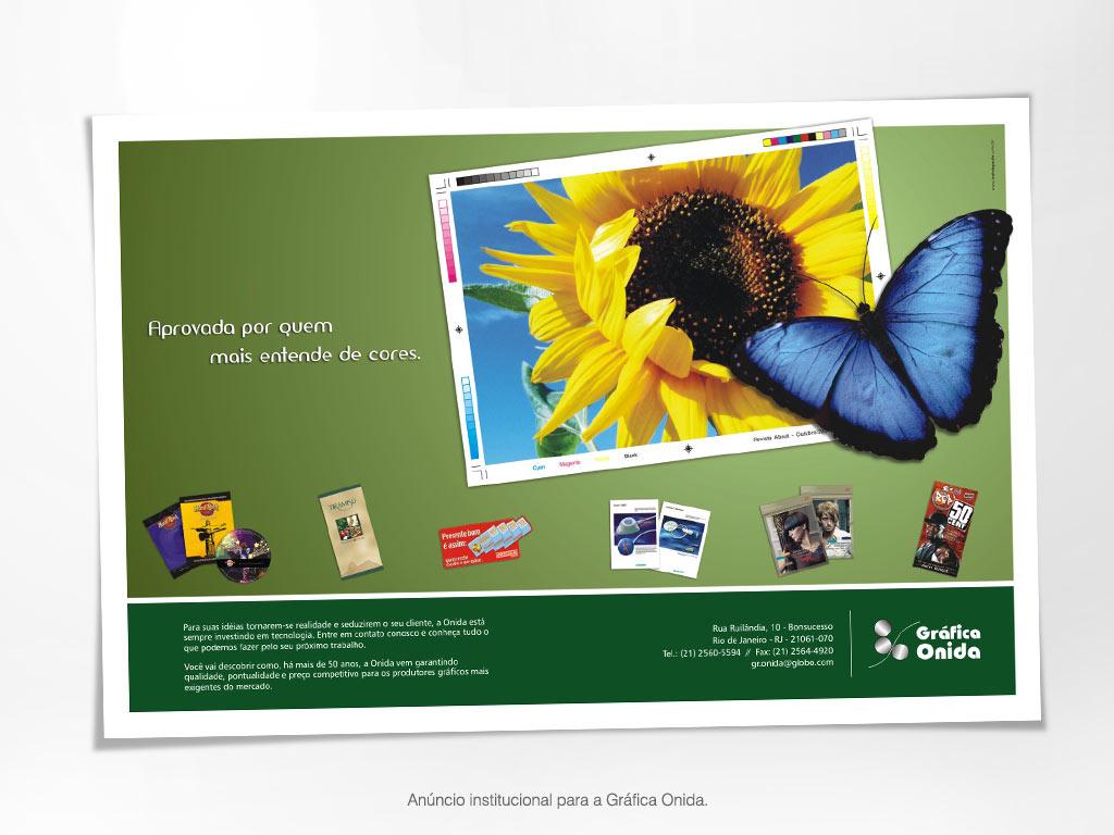 Anúncio institucional – Gráfica Onida.