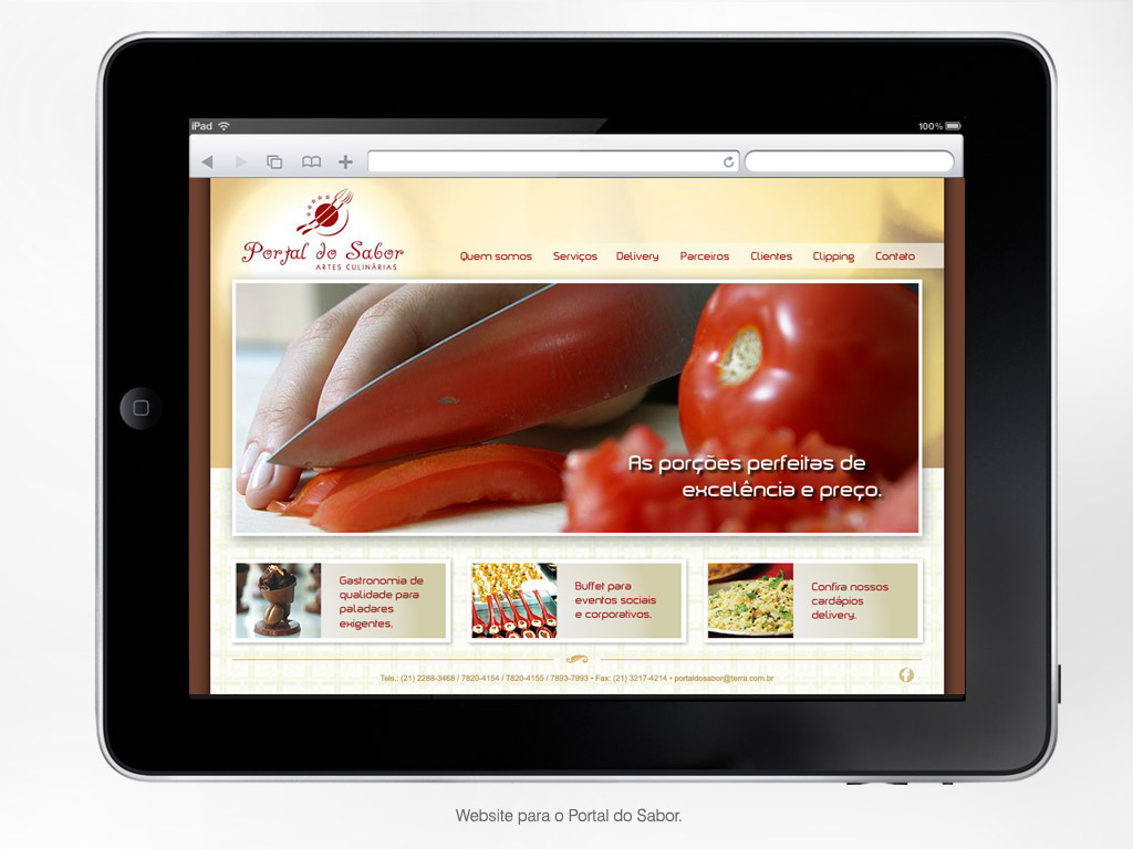 Website – Portal do Sabor