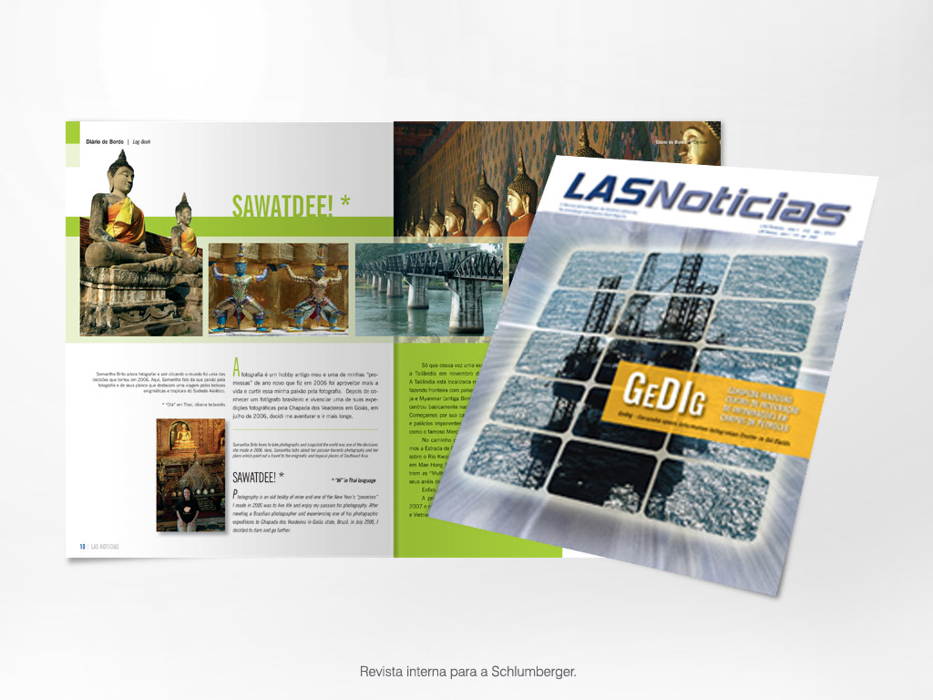 Revista interna para a Schlumberger