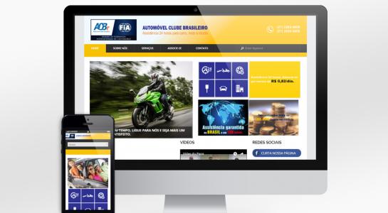 Website Responsivo – Automóvel Clube Brasileiro