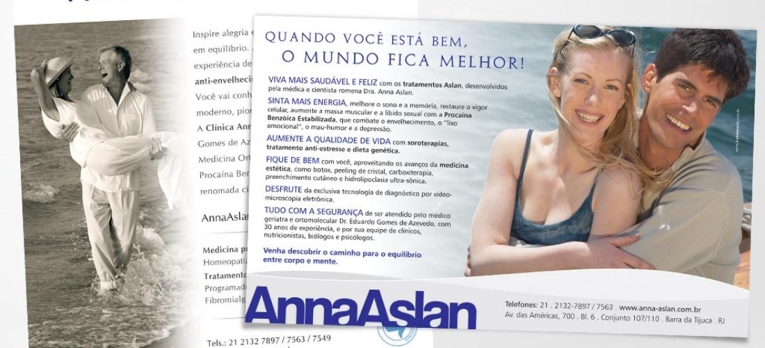 Anúncios institucionais – Clínica Anna Aslan.
