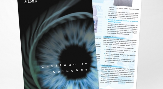 Catálogo para a Bausch & Lomb