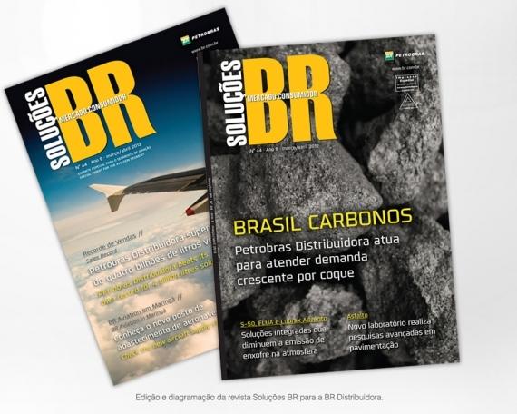 Edição e Diagramação da revista Soluções BR para a BR Distribuidora