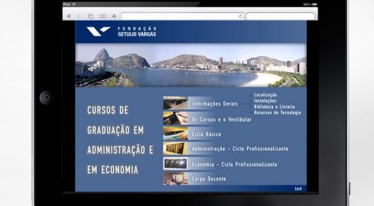 Multimídia dos cursos de graduação da Fundação Getulio Vargas