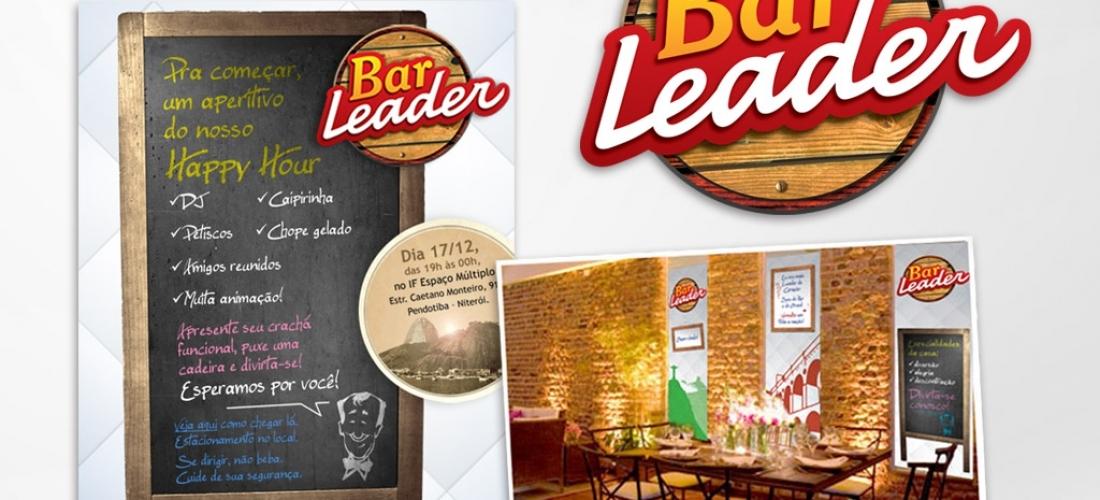 Identidade visual e peças gráficas do evento de final de ano do Grupo Leader