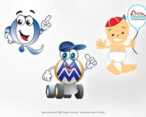 Mascotes para a FQM, Mirian Veículos – Mercedes Benz e ACAM